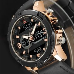 158ab9c5ef0 NAVIFORCE Top Brand Men Fashion Leather Quartz Watches Men s Army Military  Sport Watch Male Waterproof LED