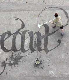 street art à l'eau