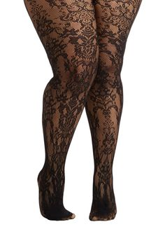 Divine All Mine Tights in Plus Size, #ModCloth They're temporarily out of stock but will contact me when they're in. With the dress I just added, these will be perfect.