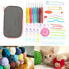Quality44Pcs Crochet Hooks Set Craft Tapestry Knitting Tapestry Needle Yarn Organiser Case Kit Craft Tool - NewChic Mobile.