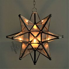 Modern Moroccan Hanging Candle Chandelier, Moroccan Hanging Lanterns, Moroccan Chandelier, Lantern Pendant Lighting, Moroccan Lighting, Hanging Lights, Modern Lighting, Hanging Star Light, Star Chandelier