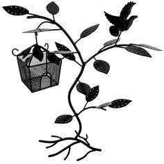14.75 inch Black Birdhouse 60 pair Earring Hanger Necklace Bracelet Jewelry Tree Organizer Display Stand