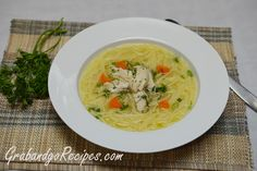Easy Homemade Chicken Noodle Soup with Homemade Stock Recipe
