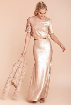 e189c0c235eaf 20 Sequin Bridesmaid Dresses. Bridesmaid TopsBridesmaid SeparatesRose Gold  ...