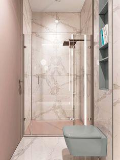 Contemporary and Modern Bathroom Tile Ideas to Design New Interior Looks Small Bathroom Tiles, Bathroom Tile Designs, Bathroom Toilets, Bathroom Pink, Narrow Bathroom, Bathroom Layout, Bathroom Fixtures, Bathroom Ideas, Bad Inspiration