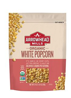 Arrowhead Mills Organic White Popcorn 24 Ounce Pack of 6 for sale online White Popcorn, Perfect Popcorn, Pop Popcorn, Best Popcorn Kernels, Yummy Snacks, Healthy Snacks, Gourmet Recipes, Snack Recipes, Air Popper