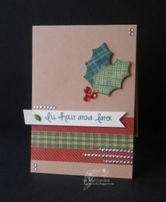 holly card by dawnmercedes - Cards and Paper Crafts at Splitcoaststampers Christmas To Do List, Christmas Cards, Holly Leaf, Heartfelt Creations, Winter Cards, Cute Cards, Christmas Projects, Warm Colors, I Card