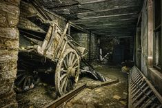 Laid in Wheels - Jan Fenkhuber Photography The Ch, Dark Places, Urban Exploration, Cannon, Urban Decay, Abandoned, The Darkest, Wheels, Castle
