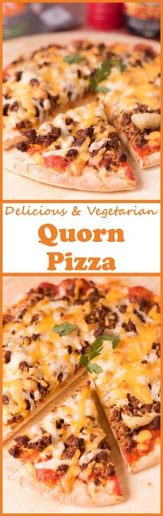 The ultimate homemade meat free vegetarian pizza! Made from Quorn mince you'd think it's an actual meat feast pizza but it's not! Quorn Recipes, Pizza Recipes, Veggie Recipes, Vegetarian Recipes, Veggie Meals, Healthy Recipes, Healthy Meals, Healthy Eating, Meat Feast Pizza