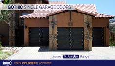 Once again, our most popular garage doors, The Gothic Style from our Timba-dor™ Range appears again! Why not be daring and purchase these garage doors for your new home and don't forget to add a d-force™ Automatic Overhead Garage Door Opener for that extra convenience and safety. www.doorzonesa.com