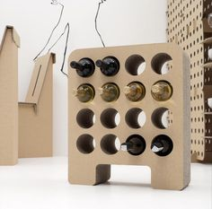Abbinata agli altri elementi Kshop Winery Plus soddisfa anche i più esigenti in fatto di stile. #kshop #mobili #cartone #ecologico #sostenibile #design #arredamento #vino