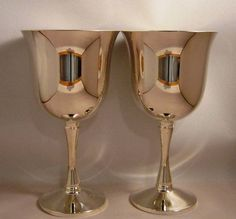 Pair of  Silver Goblets From Portugal. $25.00, via Etsy. sold