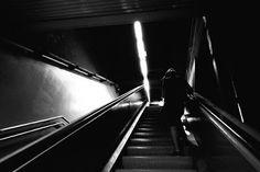 RAMÓN GRAU. Director of Photography: Llegando tarde a casa .Metro . Barcelona , mayo de este año . ContaxG2 . TriX .