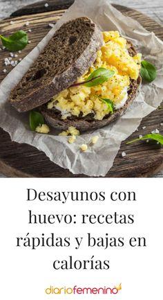 5 desayunos fáciles de hacer con huevo #recetas #recipes #desayunos #huevo #dietasana #DiarioFemenino