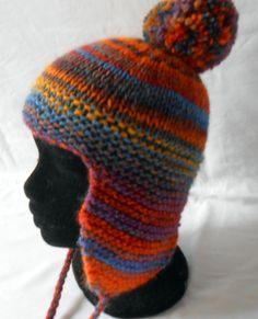 Bonnet enfant 6-8 ans en laine multicolore tricoté main   Mode garçons par  babiolesdeceline 357b10af1f4