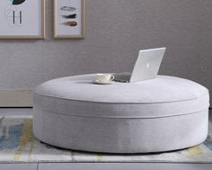 This is a nice contemporary footstool which has a nice smooth finish to it which although is shown in fabric is also available in a choice of leather.