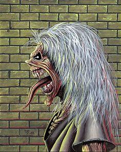 Heavy Metal, Iron Maiden Mascot, Iron Maiden Posters, Eddie The Head, Iron Maiden Band, Spawn Comics, Interesting Drawings, Dark Creatures, Masterpiece Theater
