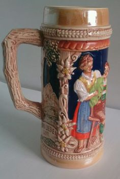#Antique #german #ceramic beer stein,  View more on the LINK: http://www.zeppy.io/product/gb/2/331802874491/