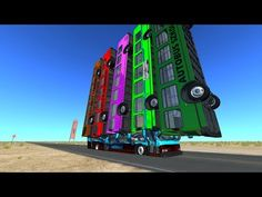 Satisfying Slow Mo Bus Crashes - BeamNG Drive - YouTube
