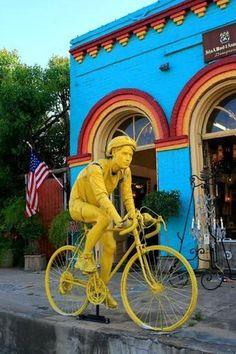 Calvert Texas bicyclist