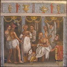 mosaic from the House of the Tragic Poet in Pompei.