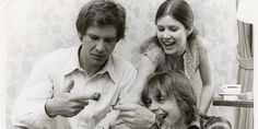 Check Out Carrie Fisher's Rare 'Star Wars' Photos: Harrison Ford, Mark Hamill, and Carrie Fisher.