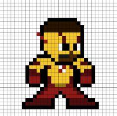 Kid Flash Perler Bead Pattern