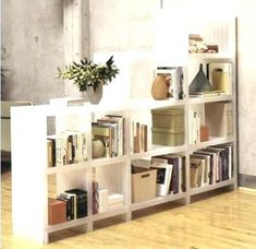 Bookshelf room divider open bookcases dividers bookcase for the home and apartments p Bookshelf Room Divider, Ikea Bookcase, Bookshelves, Room Dividers, Apartment Walls, Rustic Pillows, Kitchen Stove, Home Decor Pictures, Dinners For Kids
