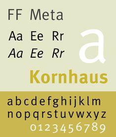 FFMeta typeface, de Eric Spiekerman (1991)