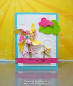 Need to make some cards with pinwheels!