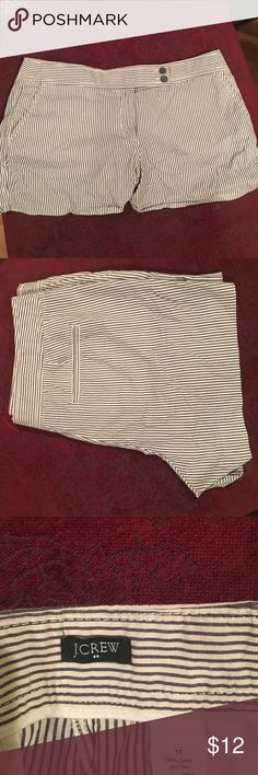 J. Crew seersucker shorts Cotton shorts by J. Crew. Light and pairs well with a cardigan and/or blazer. 🎀reasonable offers welcomed🎀 thanks! J. Crew Shorts Bermudas
