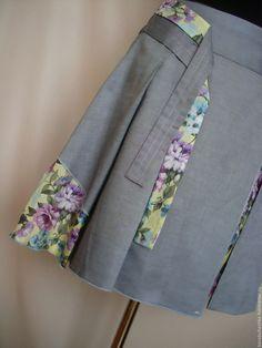 Комбинированная летняя юбка