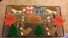 Custom woodland animal cookies for a baby shower. Decorated with royal icing.