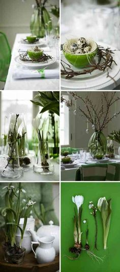 déco de table de printemps