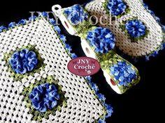 Jogo de banheiro de Crochê Flores Camélias por JNY Crochê - YouTube