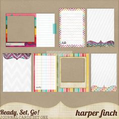 Free Project Life Journaling Card Set & Frames Printable