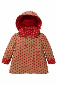 Buy Camel And Red Spot Hooded Coat (3mths-6yrs) from the Next UK online shop