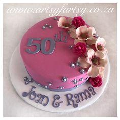 50th Flower Cake #50thbirthdaycake #flowercake Bird Cakes, Cupcake Cakes, Cupcakes, 50th Birthday, Birthday Cake, Number Cakes, Butterflies, Birds, Lady