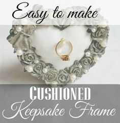 A cushioned keepsake frame is a quick and easy craft that is great for displaying special keepsakes. This step by step tutorial will help you make your own.