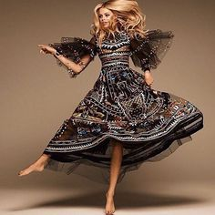 """""""Let's dance with @haileyclauson wearing a look from the #FallWinter201516 collection for @grazia_fr Photo by @jasonkimphoto"""""""