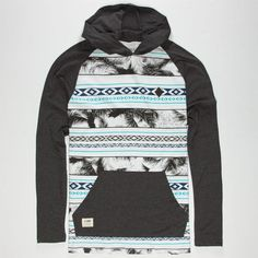 LIRA Tropical Aztec Mens Lightweight Hoodie 241727199 | Lightweight Hoodies | Tillys.com