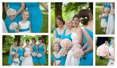 Blue bridesmaids dresses, Two Bridges Hotel Devon Wedding Photographer Blue Bridesmaids, Blue Bridesmaid Dresses, Devon, Bridges, Wedding Bouquets, Blue Bridesmaid Gowns, Wedding Brooch Bouquets, Bridal Bouquets, Wedding Bouquet
