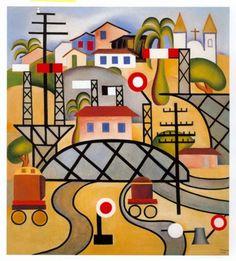 Estrada de Ferro Central do Brasil by Tarsila do Amaral