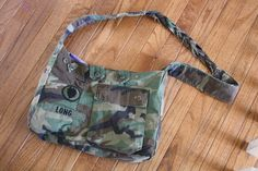 Camouflage military purse made from old uniforms! (Got plenty of those laying around!)