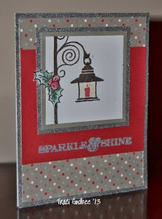 Create with Traci: Stamp of the Month blog hop time! #SparkleAndshine - I think the holly on the lamp post is from #D1553YuletideGreetings