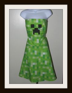 Minecraft Creeper  inspired dress by RavenBombshell on Etsy, $129.00