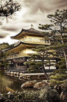 Kinkakuj templei, Kyoto, Japan 金閣寺