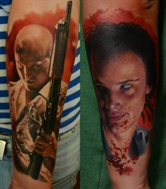 Tattoo Mickey and Mallory - Natural Born Killers. Wow, that's some amazing work.