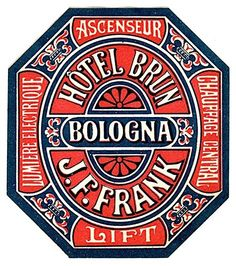 Vintage Graphic Design Hotel Brun Bologna - Twenty vintage travel labels that celebrate Bella Italia and its rich travel heritage. Rotulação Vintage, Vintage Images, Vintage Designs, Vintage Luggage, Vintage Ephemera, Typography Images, Creative Typography, Typography Inspiration, Vintage Packaging