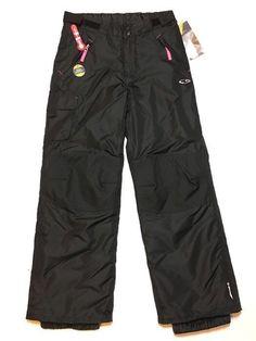 Champion Venture Dry Snow Pants Large 10/12 Black Ski Insulated Water Resistant  | eBay
